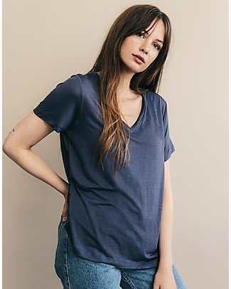 Boob Maternity and Nursing V Neck T-shirt, Indigo - 100% Lyoncell T-Shirts And Vests