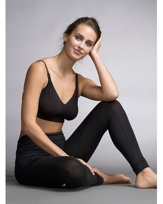 Boob Maternity Leggings - Black - New Model! (In soft eucalyptus fabric!) Leggings