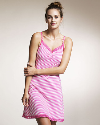 Boob Maternity / Nursing Night - Pink and White Stripes - Organic Cotton! Nightdress