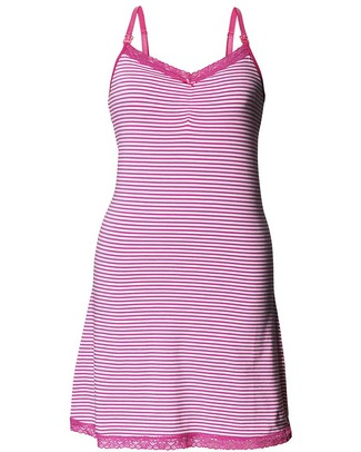 Boob Maternity / Nursing Night - Pink and White Stripes - Organic Cotton! Nightdress