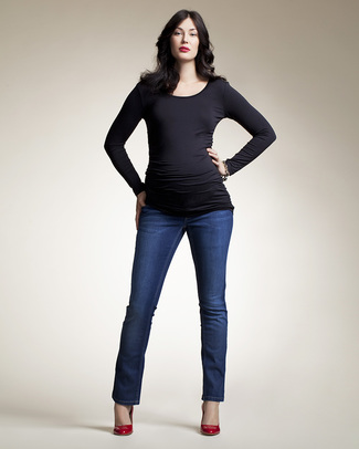 Boob Maternity Treggings - Dark Denim Blue Maternity Jeans