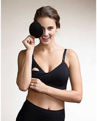 Boob Nursing Fast Food T-shirt Bra - Black - with removable pads Bras