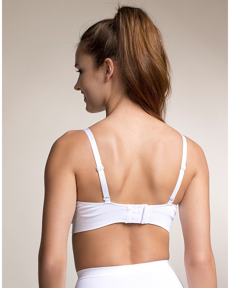 b474133659af9 Boob Nursing Fast Food T-shirt Bra - White - with removable pads woman