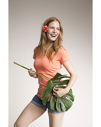 Boob  Nursing Top Short Sleeve, Melon - Organic Cotton Evening Tops