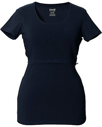 Boob  Nursing Top Short Sleeve, Midnight Blue - Organic Cotton Evening Tops