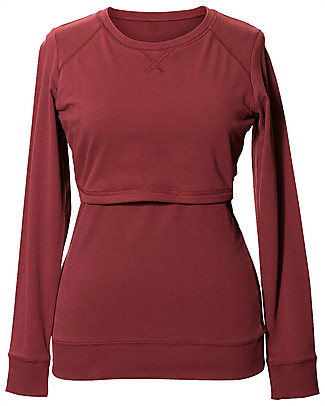 Boob Organic Cotton Maternity and Nursing B·Warmer Sweatshirt - Barn Red Long Sleeves Tops