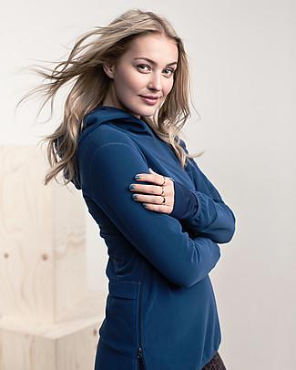 Boob Ready Flex Fleece Maternity & Nursing Hoodie - Petrol (made from 100% recycled plastic bottles) Jackets