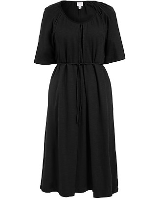Boob Short Sleeve Breeze  Maternity & Nursing Dress, Black - 100% Organic Cotton Dresses