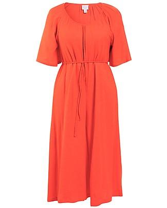 Boob Short Sleeve Breeze  Maternity & Nursing Dress, Poppy - 100% Organic Cotton Dresses