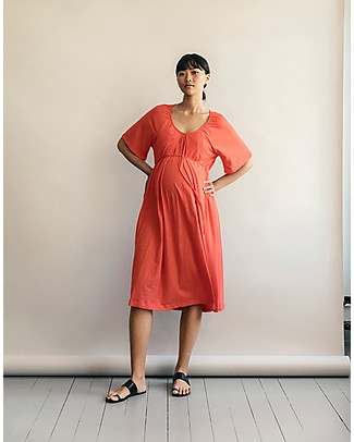 Boob Short Sleeve Breeze  Maternity & Nursing Dress, Poppy - 100% Organic Cotton Dresses