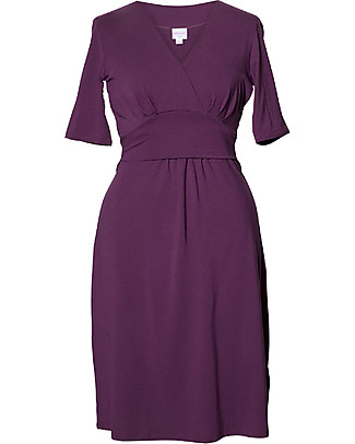 Boob Short Sleeve Sophia  Maternity & Nursing Dress, Purple - Soft eucalyptus fabric Dresses