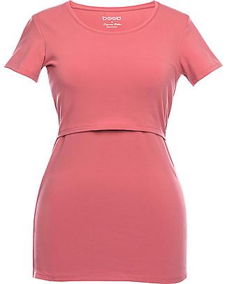 Boob Short-sleeved Maternity and Nursing T-Shirt, Faded Rose - Organic cotton Evening Tops