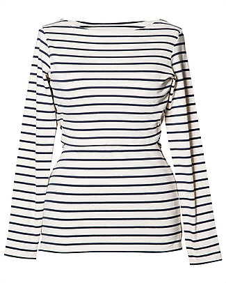 Boob Simone, Maternity & Nursing Long Sleeves Top - Off White and Navy Stripes - Organic cotton Long Sleeves Tops