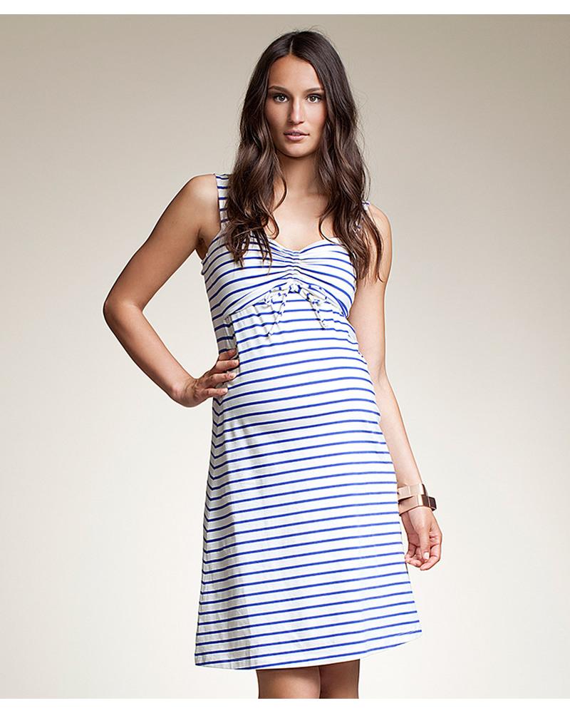 76dbbb9f7c27d Boob Simone Maternity and Nursing Dress Blue Stripe - Organic Dresses