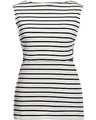 Boob Simone Sleeveless Maternity and Nursing Top, Tofu/Black - Organic cotton Evening Tops
