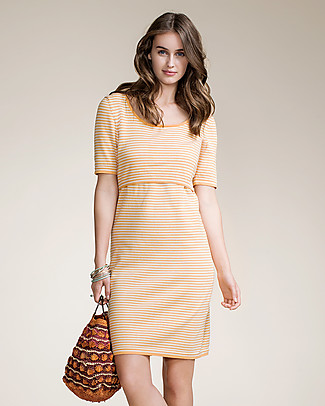Boob Striped Knitted Maternity & Nursing Dress, Honeydew - Organic Cotton Dresses