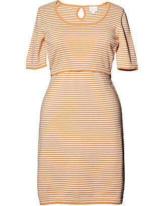 Boob Striped Knitted Maternity & Nursing Dress, Honeydew - Organic Cotton Dresses