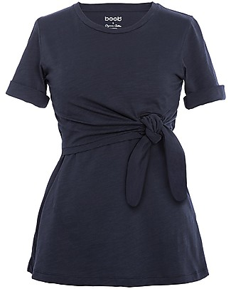 Boob Suki Maternity and Nursing Top wth Knot, Blue Midnight - Organic cotton Evening Tops