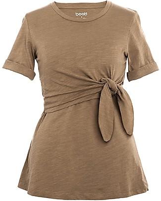 Boob Suki Maternity and Nursing Top wth Knot, Brown Sugar - Organic cotton Evening Tops