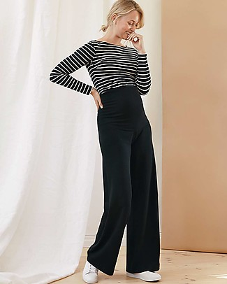 Boob Wide Leg Trousers, One On Never Off, Black - Eucalyptus Fibre  Trousers