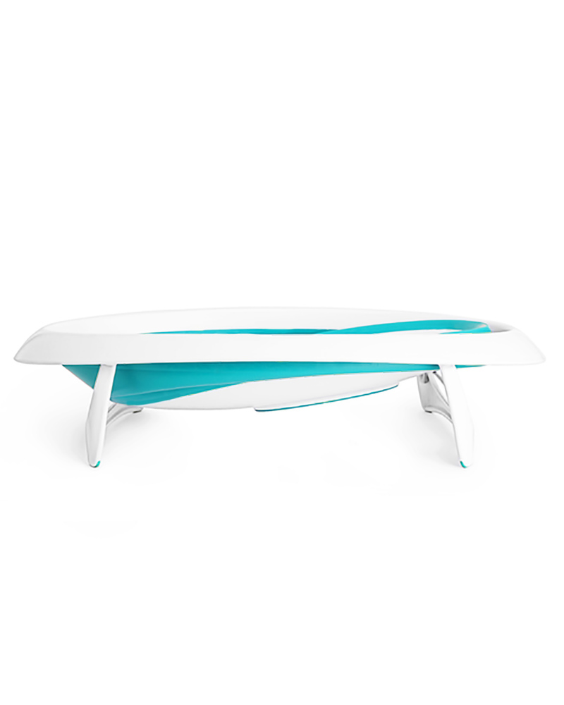 Boon Inc. NAKED 2 Position Collapsible Bath Tub - Blue & White ...