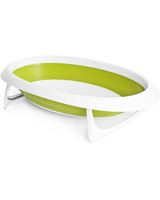 Boon Inc. NAKED 2 Position Collapsible Bath Tub - Green & White Baby Bath Tubs