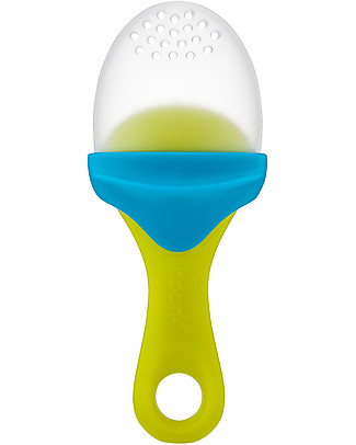 Boon Inc. Pulp, Silicone Feeder - Green and Light Blue (free from BPA, PVC and Phthalates!) Spoons, Cutlery & Chopsticks