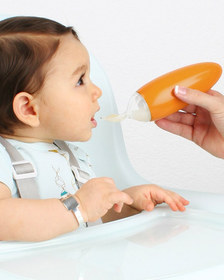 Boon Inc. SQUIRT Food Dispenser - Orange (free from BPA, PVC and Phthalates!) Spoons, Cutlery & Chopsticks