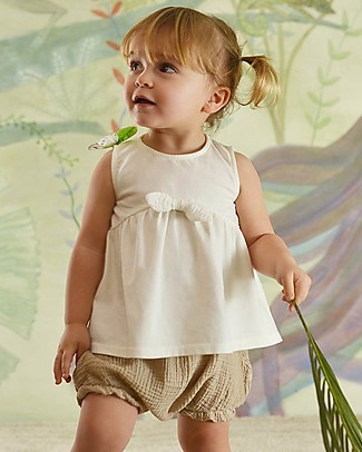 Botanica Boo Baby Bloomer, Ecrù - 100% cotton Shorts
