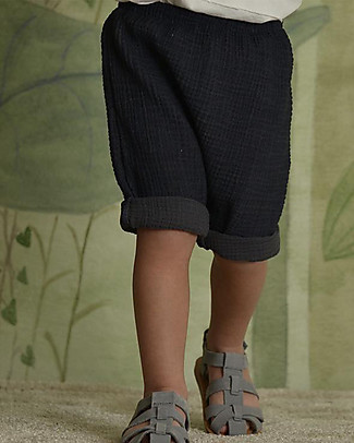 Botanica Boo Baby Shorts, Blue - 100% cotton Shorts