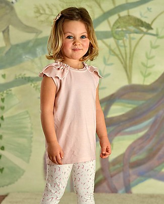 Botanica Boo T-Shirt for Girls with Voillant, Pink - Organic Cotton Special Occasion