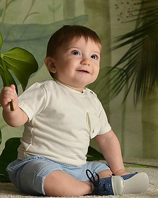 Botanica Boo T-Shirt with Pocket, Milk - Organic Cotton T-Shirts And Vests