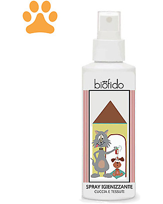 Bubble&CO Animal Spray Biofido, 150 ml -  Sanitize Dog basket or Animal Bed Pet Grooming