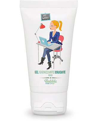 Bubble&CO Hand Sanitiser and Moisturiser, At Work, 50 ml – Ideal for delicate skin! Baby Wipes