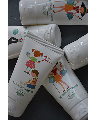 Bubble&CO Hand Sanitiser and Moisturiser, Shopping, 50 ml - Ideal for delicate skin! Body Lotions And Oils