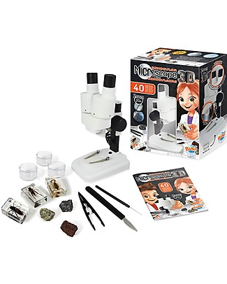 Buki Binocular Microscope 3D - 40 Experiments included! Science and Nature