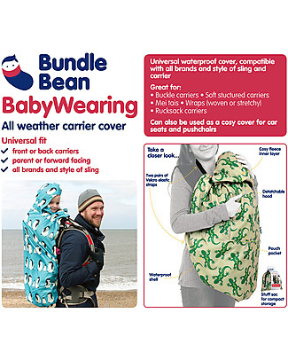 BundleBean Babywearing Fleece-lined all-weather cover - Plain Black Baby Carriers
