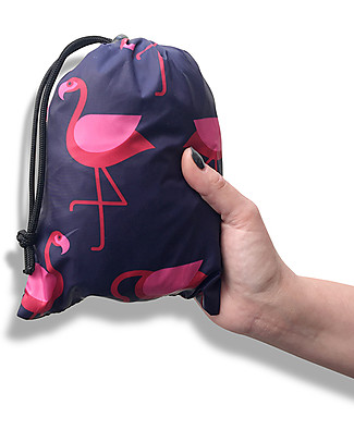 BundleBean Babywearing lightweight raincover - Navy Flamingo Baby Carriers