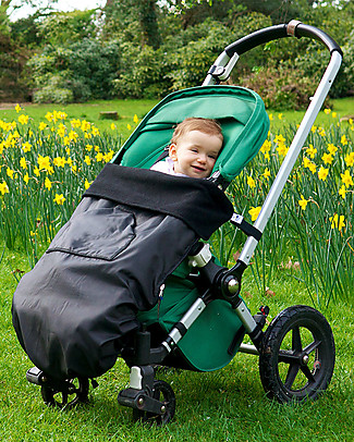 BundleBean GO - Universal Waterproof 5-in-1 Footmuff - Black Stroller Accessories