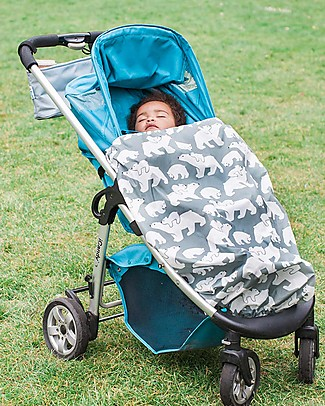 BundleBean GO - Universal Waterproof 5-in-1 Footmuff - Polar Bears Stroller Accessories