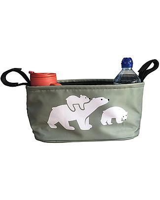 BundleBean Universal Buggy Organiser - Polar Bear Stroller Accessories