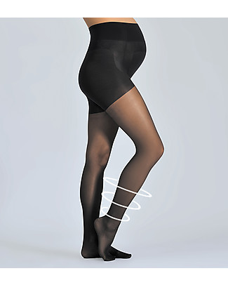 Cache Coeur Activ'Light, Maternity Compression Tights 30 Denier, Black - Light legs all day long! Tights