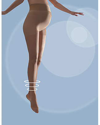 Cache Coeur Activ'Light, Maternity Compression Tights 30 Denier, Nude – Light legs all day long! Tights