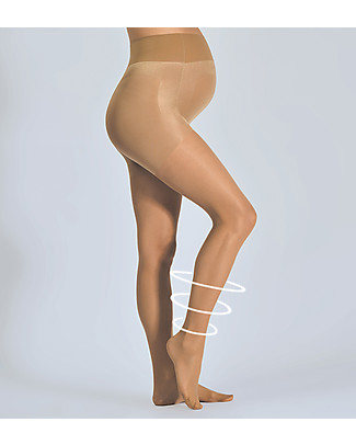 Cache Coeur Activ'Light, Maternity Compression Tights 30 Denier, Nude - Light legs all day long! Tights
