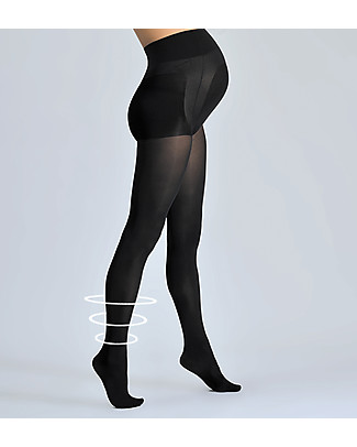 Cache Coeur Activ'Soft, Maternity Compression Tights 70 Denier, Black - Light legs all day long! null