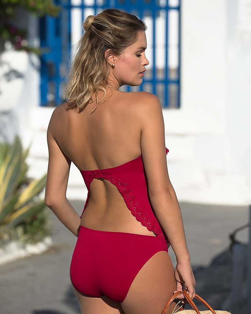 ac0fee5161171 Cache Coeur Bloom, Maternity Tankini Swimsuit - Sangria Bikinis And Tankinis