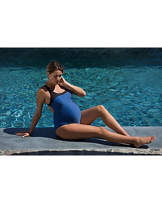 Cache Coeur Yana, Maternity Swimsuit – Blue, Perfect for the swimming pool! Swimsuits