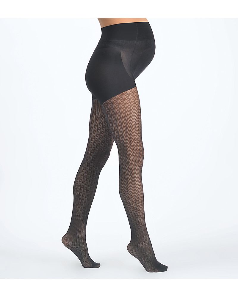 Mums in tights Cache Coeur Zig Zag Maternity Tights 30d Black For All Trendy Mums Woman