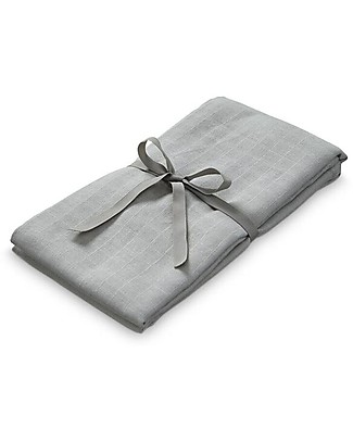 Camcam Copenhagen 100% Organic Cotton Swaddle, Grey - 120x120 cm Swaddles