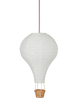 Camcam Copenhagen Air Balloon Lamp, Grey Wave with Rose cord – Comes in a beautiful gift box! Nightlights